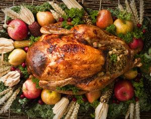 Roast Turkey on a platter.