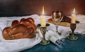 Saturday Sabbath Havdala ceremony at the end of Jewish Saturday