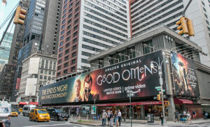 Billboard for Good Omens